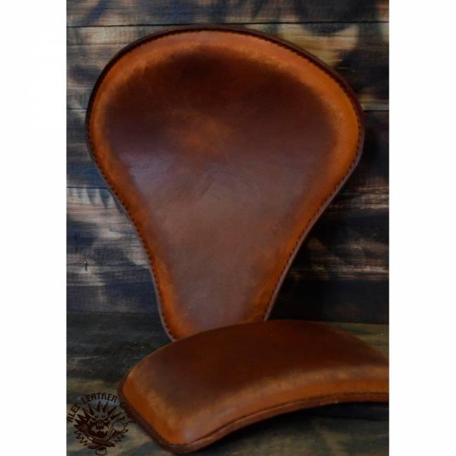 Bobber Seat + Pillion Seats/pads Vintage Brown V1
