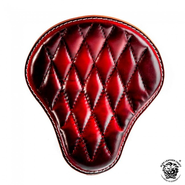 "Bobber & Chopper Custom Seat ""Red Hand sewn V3"""
