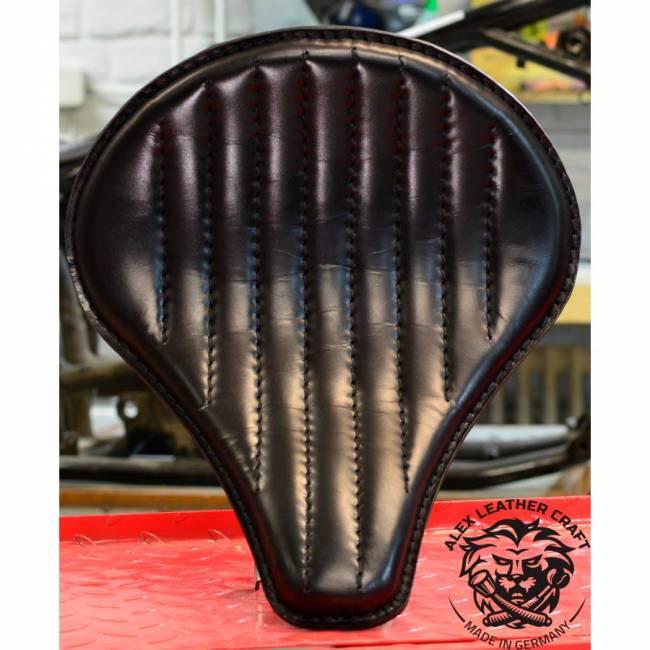 """Bobber Seat """"Long"""" Black Hand sewn V2"""
