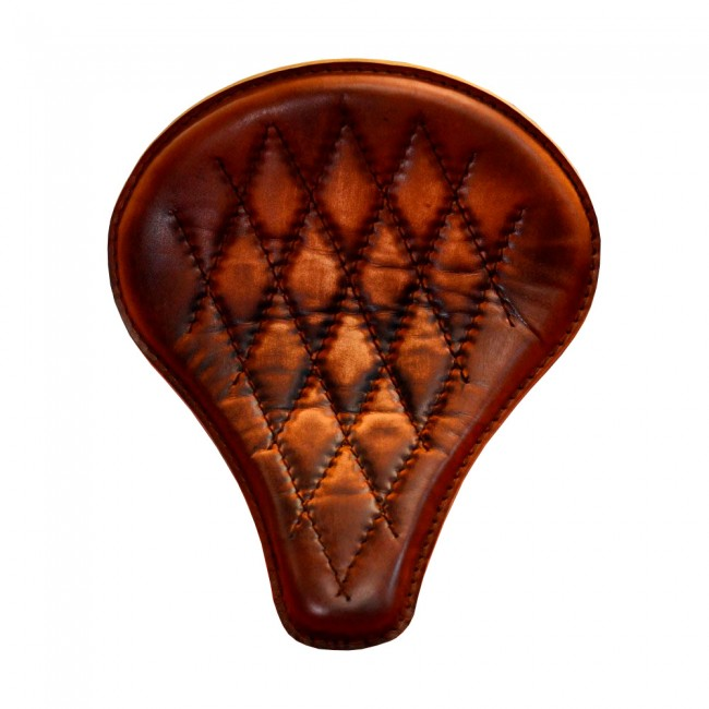 "Bobber Seat ""Long"" Vintage Brown Hand sewn V3"