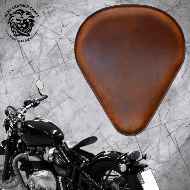 "Triumph Bonneville Bobber Seat since 2016 ""Drop'' Vintage Brown"