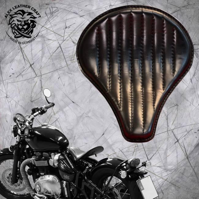 """Triumph Bonneville Bobber Seat since 2016 """"Long"""" Black V2"""