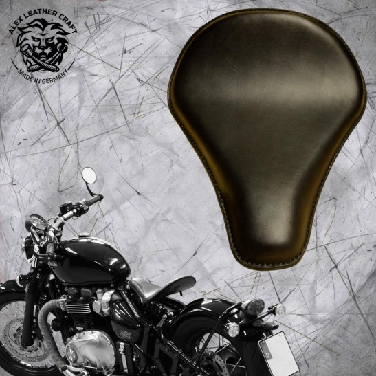 "Triumph Bonneville Bobber Seat since 2016 ""Long"" Black"