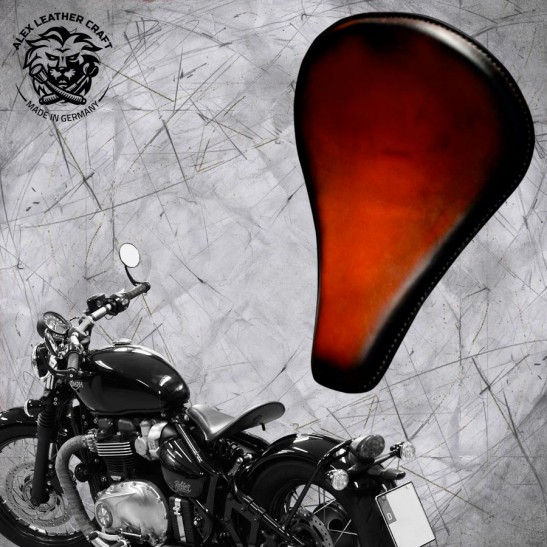 """Triumph Bonneville Bobber Seat since 2016 """"Long"""" Saddle Tan"""