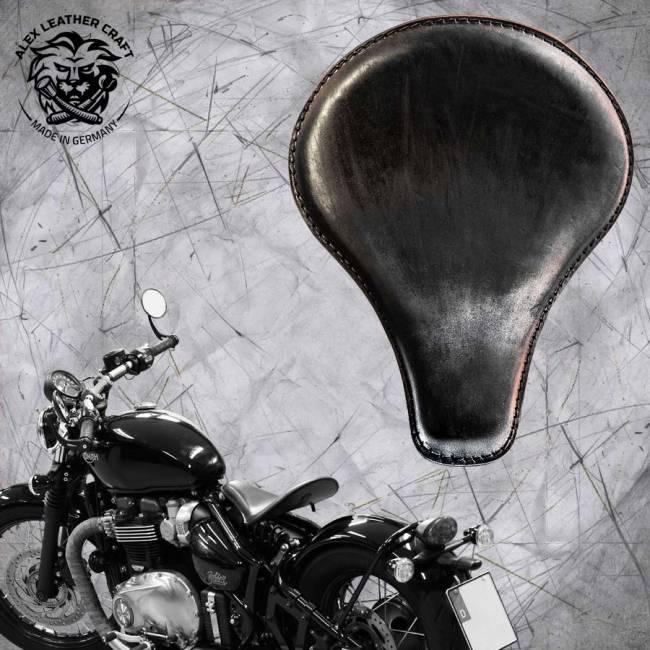 """Triumph Bonneville Bobber Seat since 2016 """"Long"""" Vintage Black"""