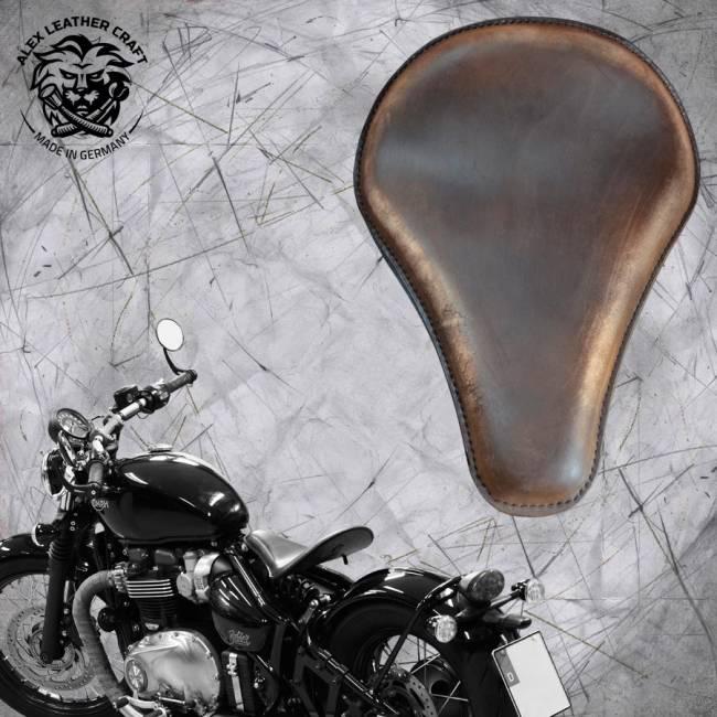 """Triumph Bonneville Bobber Seat since 2016 """"Long"""" Vintage Сhocolate"""