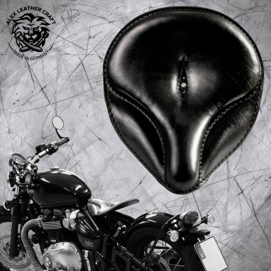 "Triumph Bonneville Bobber Seat since 2016 ""Old time"" Black"