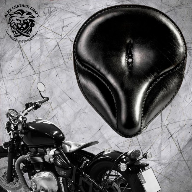 "Triumph Bonneville Bobber Selle de 2016 ""Old time"" Noir"