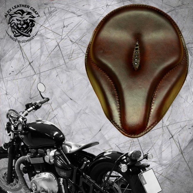 "Triumph Bonneville Bobber Selle de 2016 ""Old time"" Foncé brown"