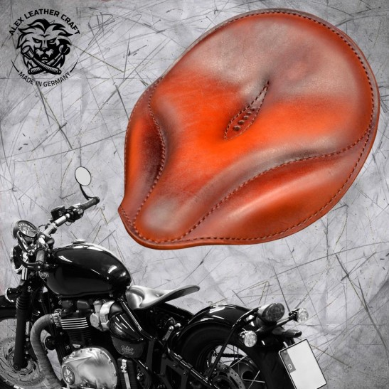 "Triumph Bonneville Bobber Selle de 2016 ""Old time"" Light Tan"