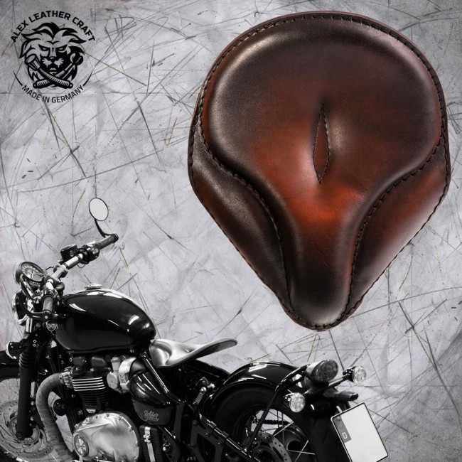 "Triumph Bonneville Bobber Selle de 2016 ""Old time"" Vintage Tan"