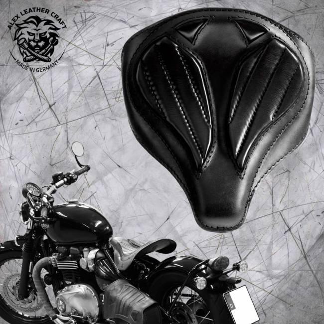 "Triumph Bonneville Bobber Seat since 2016 ""Spider"" Black V2"