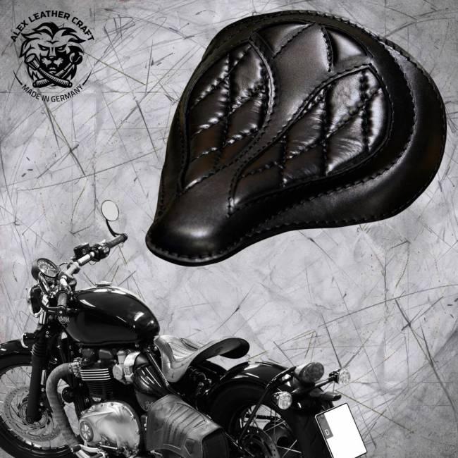 "Triumph Bonneville Bobber Seat since 2016 ""Spider"" Hand sewn Black V3"