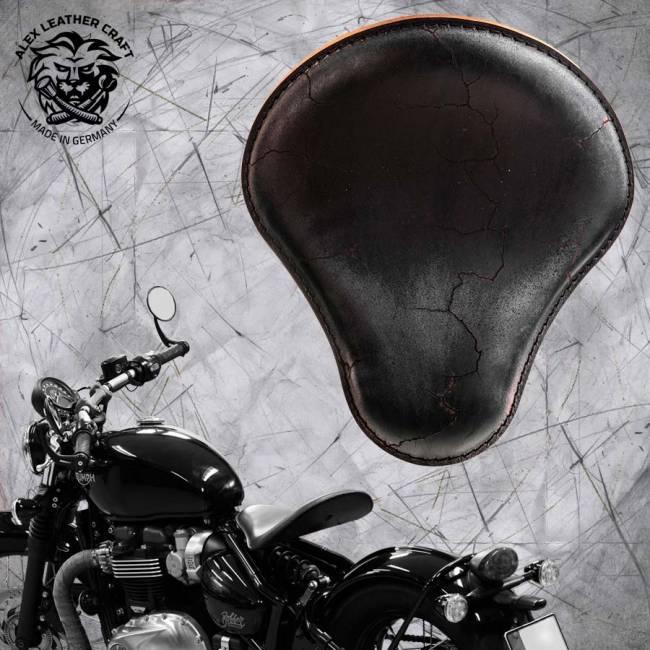 """Triumph Bonneville Bobber Selle de 2016 """"Standard"""" Vintage Noir Électro"""
