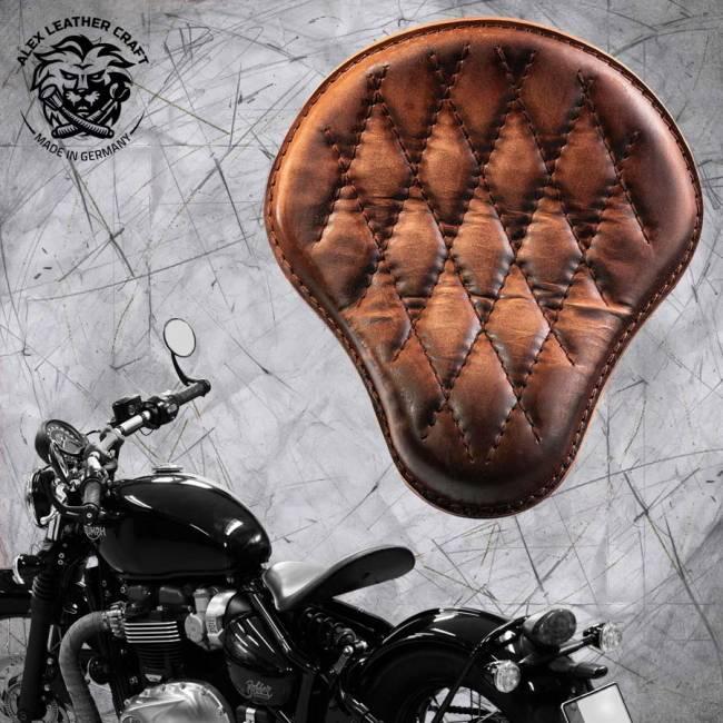 """Triumph Bonneville Bobber Seat since 2016 """"Standard"""" Vintage Brown V3"""