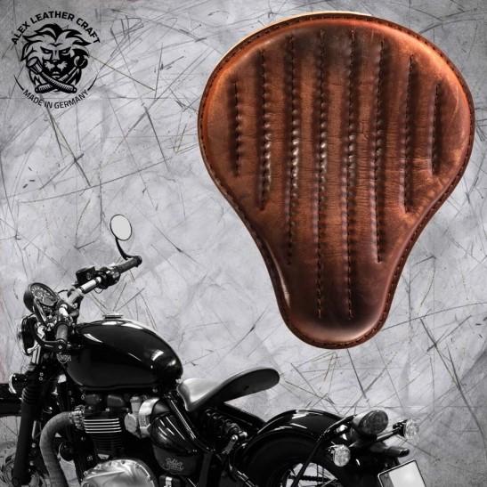 "Triumph Bonneville Bobber Seat since 2016 ""Standard"" Vintage Brown Hand sewn V2"
