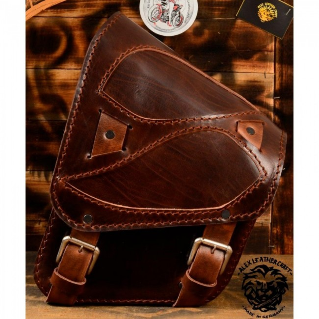 Saddlebag Kawasaki Vulcan VN400/900 Buffalo Brown