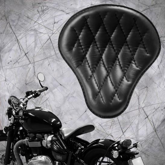 "Triumph Bonneville Bobber Seat since 2016 ""Standard"" Black Hand sewn V3"