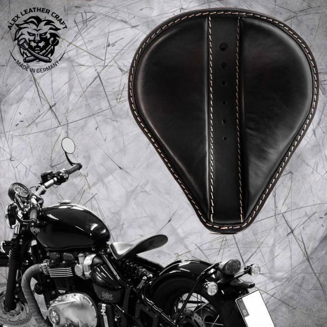 """Triumph Bonneville Bobber Seat since 2016 """"Drop"""" Moiety Black"""