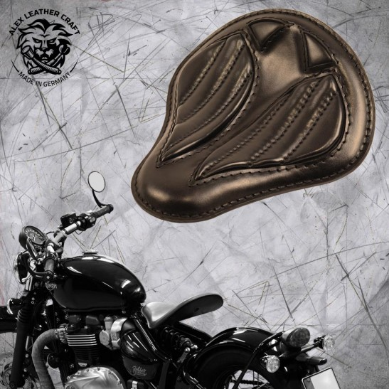 "Triumph Bonneville Bobber Seat since 2016 ""Standard'' Short Black V2"