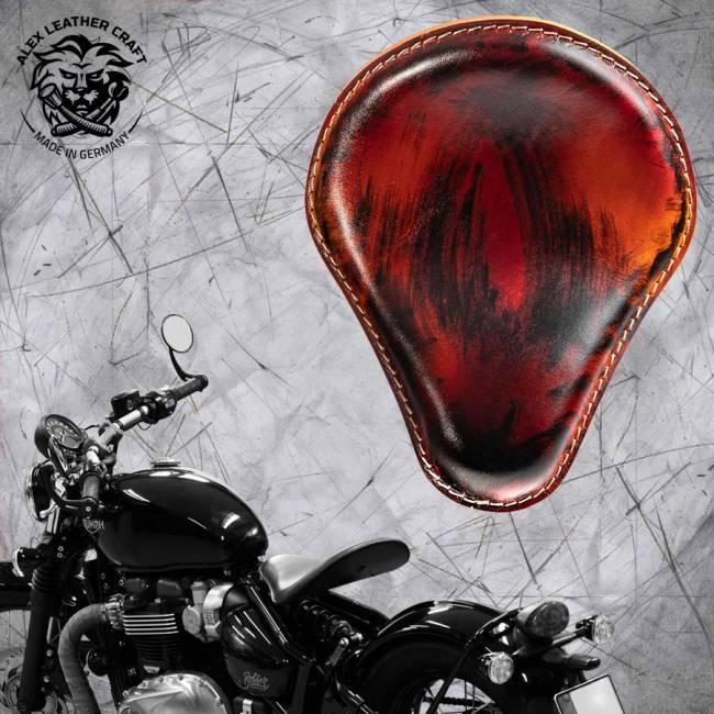 """Triumph Bonneville Bobber Selle de 2016 """"Standard"""" Noir et Rouge"""