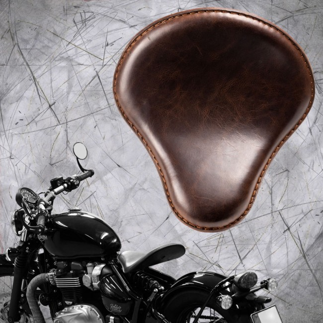"Triumph Bonneville Bobber Seat since 2016 ""Standard"" Buffalo Dark Brown"