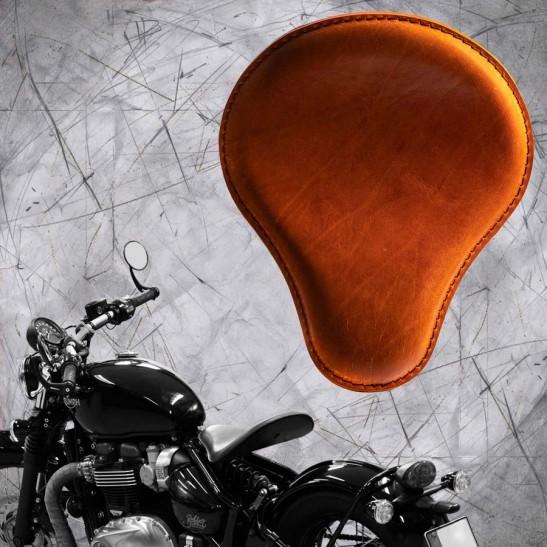 """Triumph Bonneville Bobber Seat since 2016 """"Standard"""" Buffalo Cognac"""
