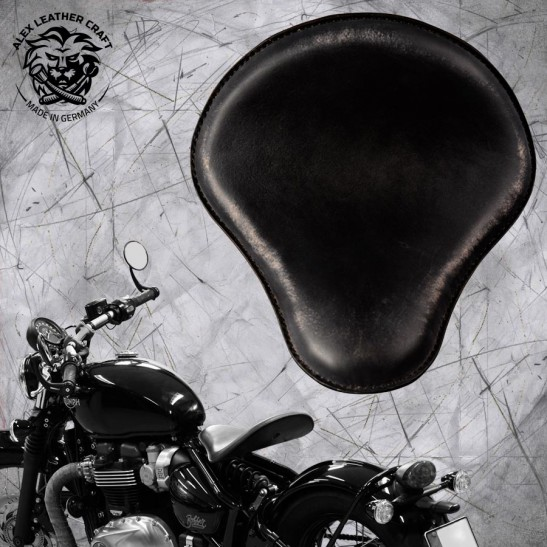 "Triumph Bonneville Bobber Selle de 2016 ""Standard"" Vintage Black V1"