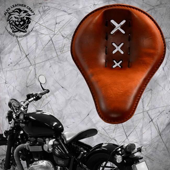 """Triumph Bonneville Bobber Selle de 2016 """"Standard"""" Amsterdam Vintage Marron"""
