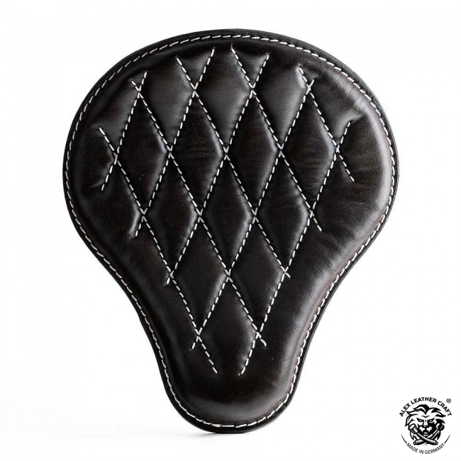 "Bobber & Chopper Custom Seat ""Black and White"" Hand sewn V3"