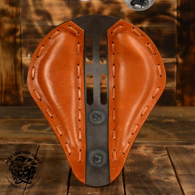 "Bobber & Chopper Custom Selle ""4Quatrième"" Buffalo Cognac"