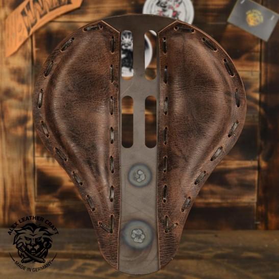 "Bobber & Chopper Custom Selle ""4Quatrième"" Buffalo Mocca"
