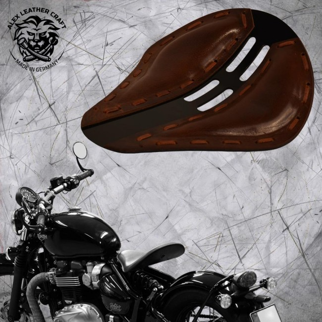 "Triumph Bonneville Bobber Seat since 2016 ""Standard"" 4Fourth Buffalo Brown"