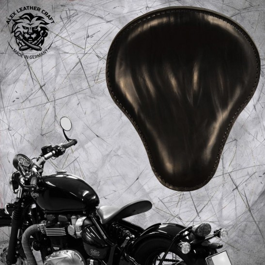 "Triumph Bonneville Bobber Seat since 2016 ""Standard"" Wrinkle Black"