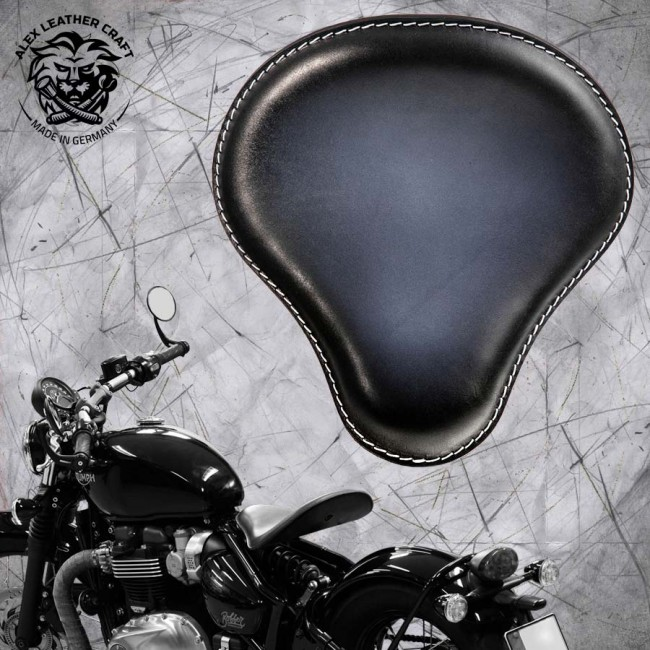 "Triumph Bonneville Bobber Seat since 2016 ""Standard"" Black and White"
