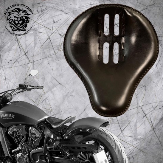 """Bobber Solo Seat for Indian Scout since 2017 """"Standard"""" 4Fourth Black"""