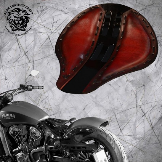 "Bobber Solo Sitz für Indian Scout ab 2017 ""Standard"" 4Fourth Rot"