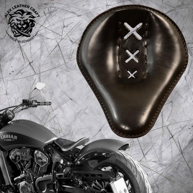 "Bobber Solo Seat for Indian Scout since 2017 ""Standard"" Amsterdam Black"