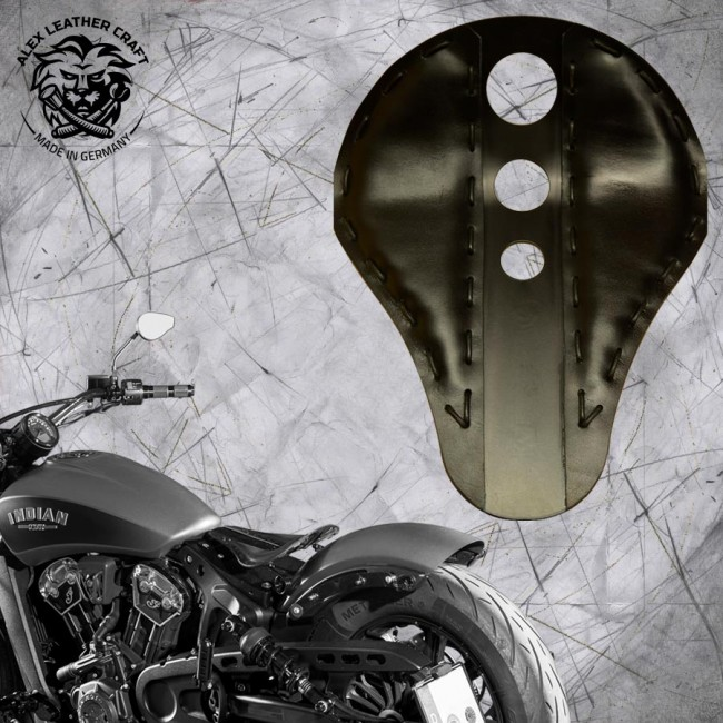 "Bobber Solo Seat for Indian Scout since 2017 ""Standard"" Trinity Black"