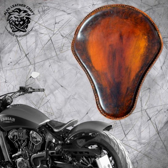 "Selle bobber solo pour Indian Scout ab 2017 ""Standard"" crazy boom"