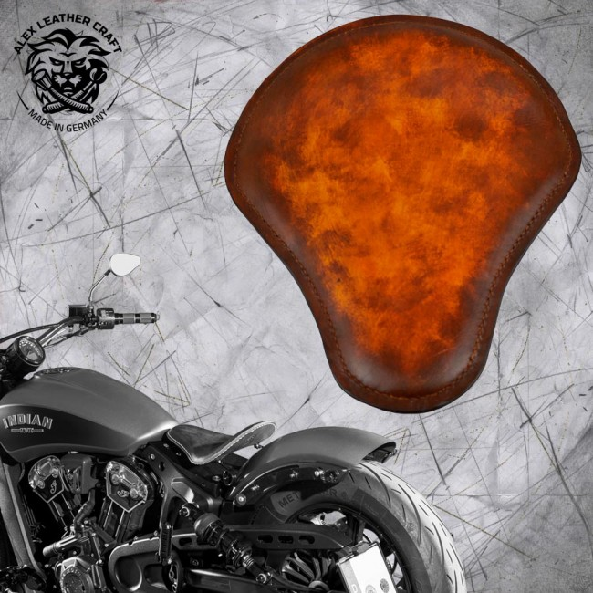 "Selle bobber solo pour Indian Scout ab 2017 ""Standard"" crazy boom V2"