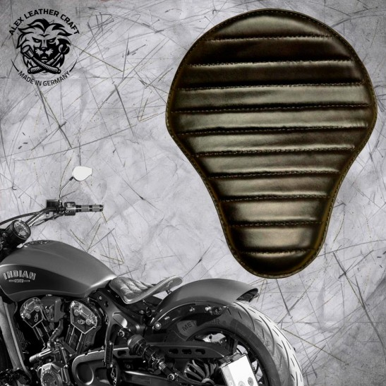 "Bobber Solo Seat for Indian Scout since 2017 ""Standard"" Black V1"