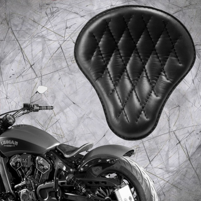 "Bobber Solo Seat for Indian Scout since 2017 ""Standard"" Black V3"