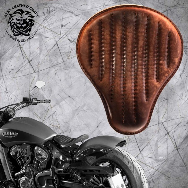 "Bobber Solo Seat for Indian Scout since 2017 ""Standard"" Vintage Brown V2"