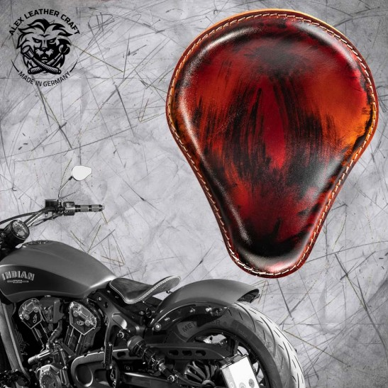 "Bobber Solo Seat for Indian Scout since 2017 ""Standard"" Crazy Boom V3"