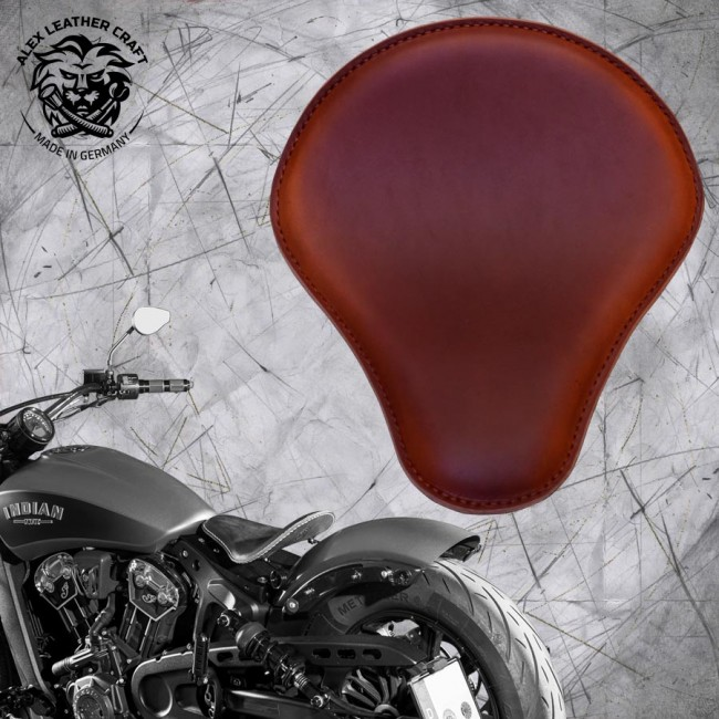 "Bobber Solo Seat for Indian Scout since 2017 ""Standard"" Brown"