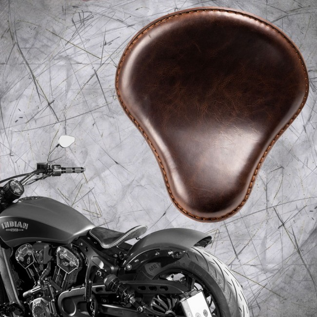 "Selle bobber solo pour Indian Scout ab 2017 ""Standard"" buffalo foncé marron"