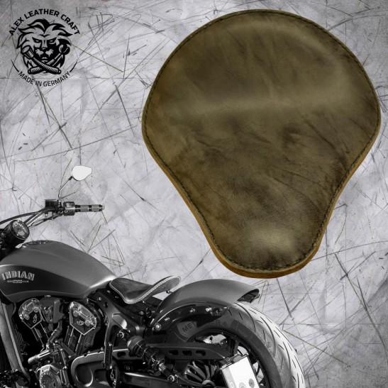 "Selle bobber solo pour Indian Scout ab 2017 ""Standard"" buffalo grise"