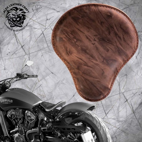 "Bobber Solo Seat for Indian Scout since 2017 ""Standard"" Buffalo Mocca"