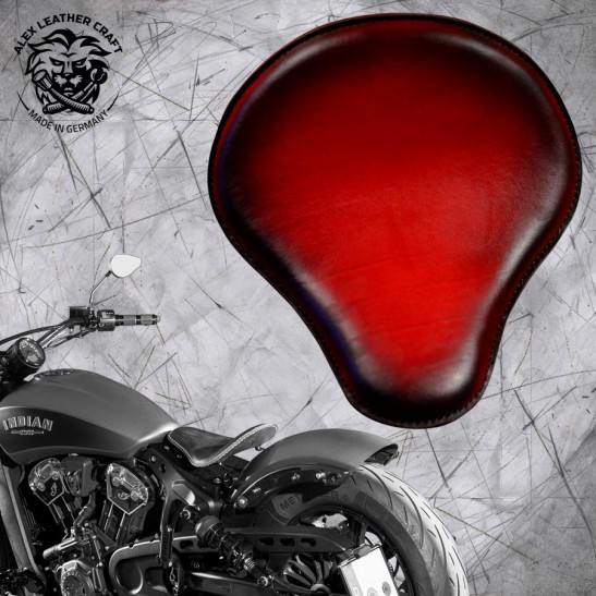 """Bobber Solo Seat for Indian Scout since 2017 """"Standard"""" Red"""